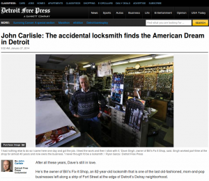 John Carlisle: The accidental locksmith finds the American Dream in Detroit